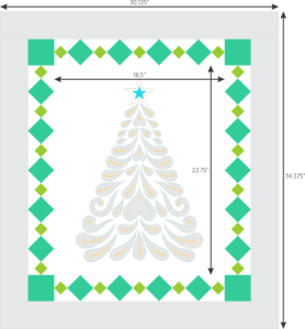 Feathered Christmas with diamond border 1