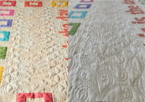 Rejoice quilt before and after washing